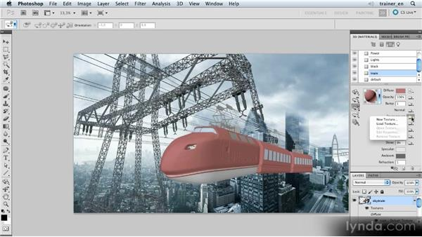 Adding a reflection: Photoshop Artist in Action: Uli Staiger's Skytrain