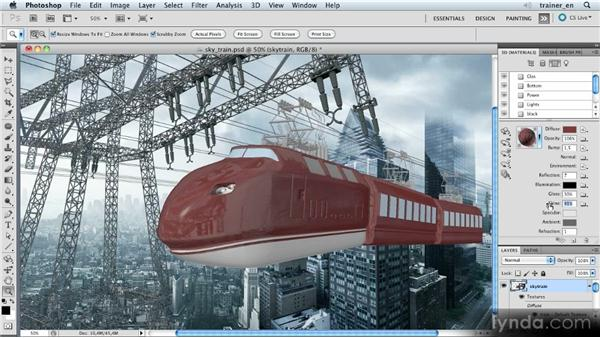 Defining gloss and shine: Photoshop Artist in Action: Uli Staiger's Skytrain