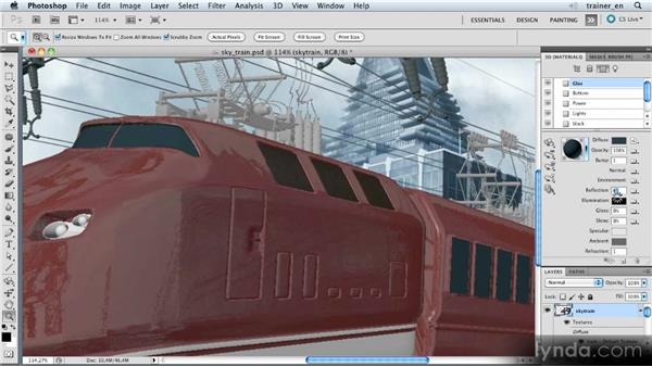 Fine-tuning the materials: Photoshop Artist in Action: Uli Staiger's Skytrain