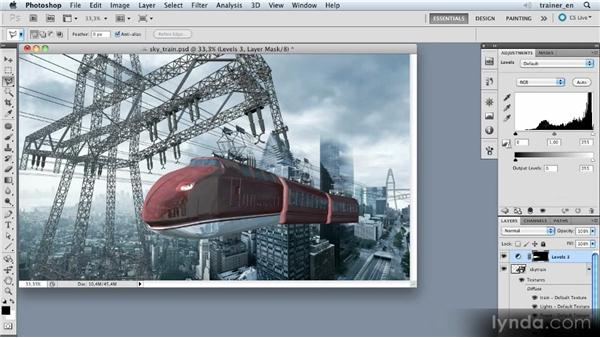 Creating a light cone: Photoshop Artist in Action: Uli Staiger's Skytrain