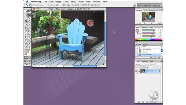 save and load selections: Photoshop CS Essential Training