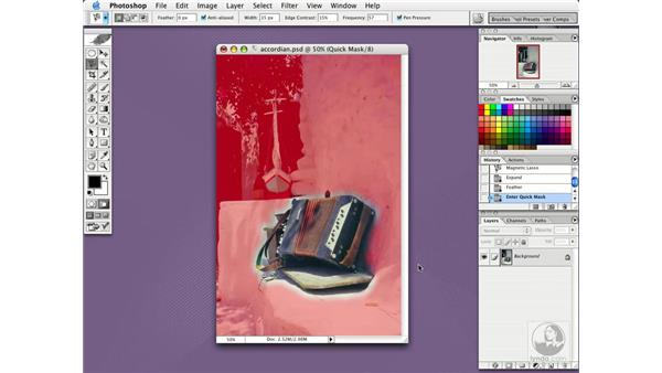 lens blur: Photoshop CS Essential Training