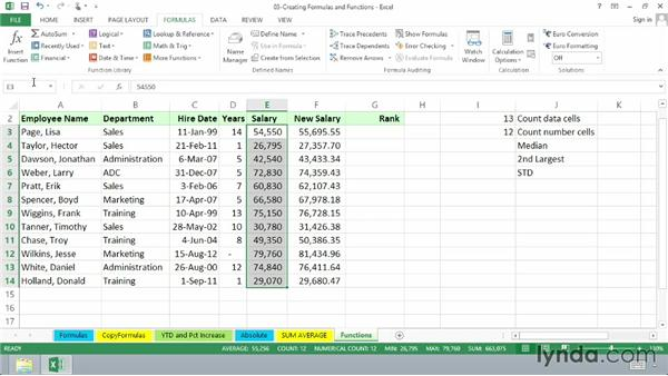 Using other common functions: Excel 2013 Essential Training