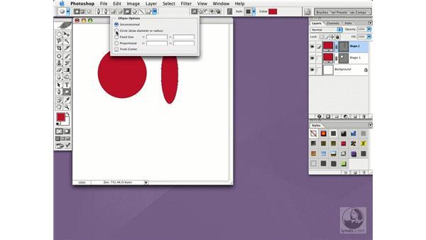 drawing shapes: Photoshop CS Essential Training