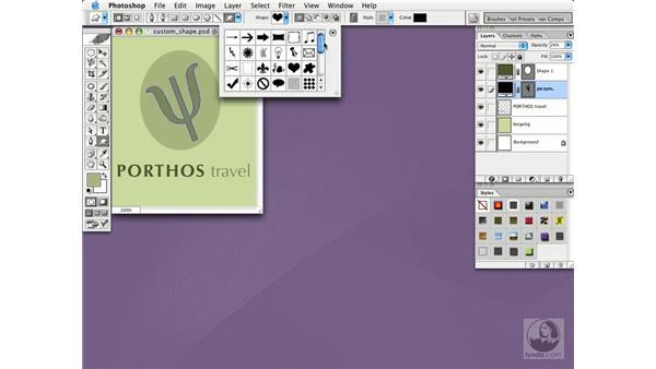 custom shapes: Photoshop CS Essential Training