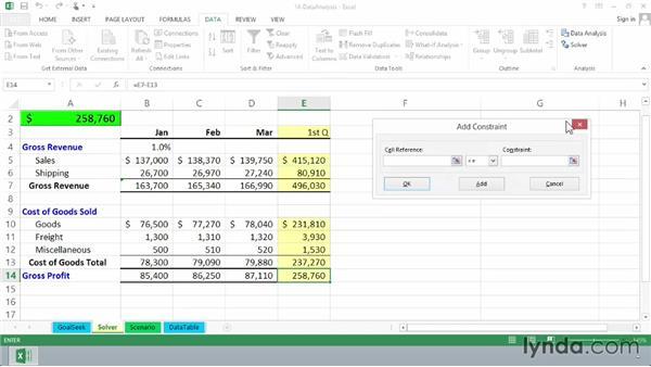Using Solver: Excel 2013 Essential Training