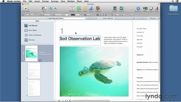 Adding and formatting text from Microsoft Word: iBooks Author for Teachers: Creating a Lab Manual