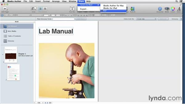 Sharing a project: iBooks Author for Teachers: Creating a Lab Manual