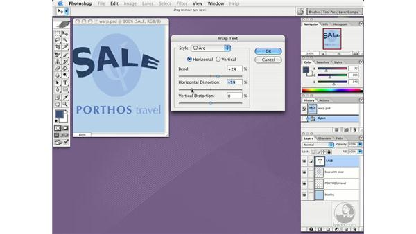 warp type: Photoshop CS Essential Training