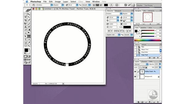 type on a path: Photoshop CS Essential Training