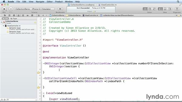 Adding and configuring a UICollectionView: iOS 6 SDK New Features