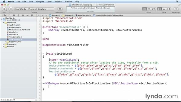 Splitting a collection view into sections: iOS 6 SDK New Features