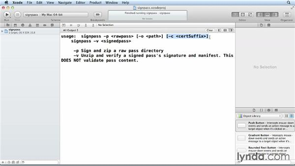 Signing and using a custom pass: iOS 6 SDK New Features
