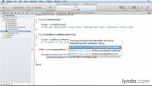 Posting to Facebook with the Social framework: iOS 6 SDK New Features