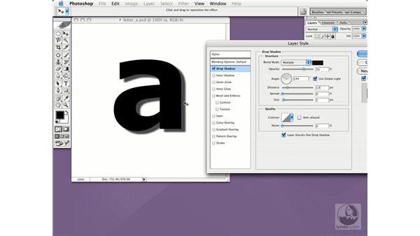 drop shadow: Photoshop CS Essential Training