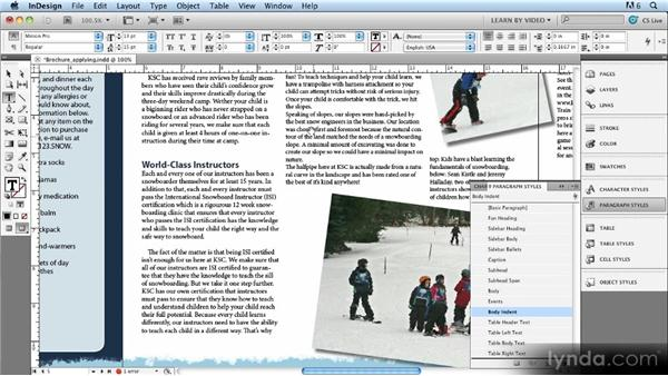 Setting up and applying styles and dealing with style overrides: Up and Running with Styles in InDesign CS5