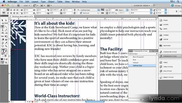 : Up and Running with Styles in InDesign CS5