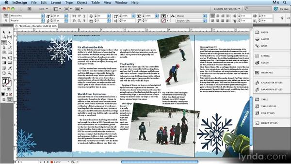 Creating and updating character styles: Up and Running with Styles in InDesign CS5