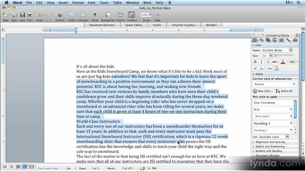 Importing styles from Word: Up and Running with Styles in InDesign CS5