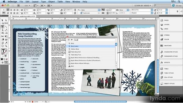Quick Apply: Up and Running with Styles in InDesign CS5