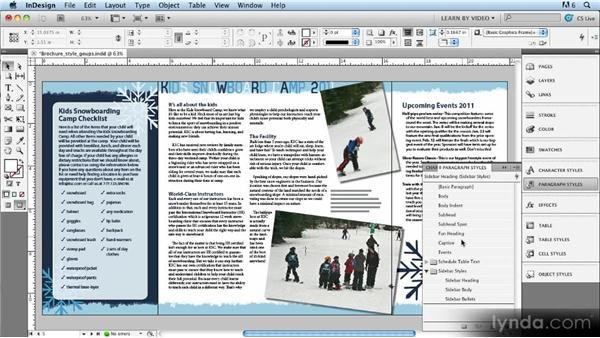 Style groups: Up and Running with Styles in InDesign CS5