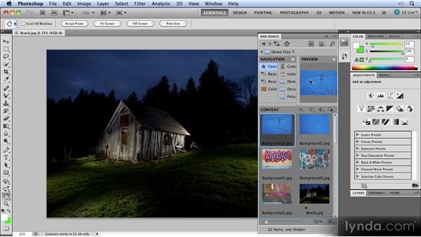 Photoshop CS5 workspace improvements: Photoshop CS5 New Features Overview