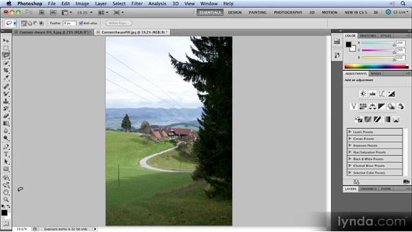 Content-Aware Fill: Photoshop CS5 New Features Overview