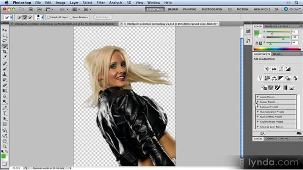 Complex selections: Photoshop CS5 New Features Overview
