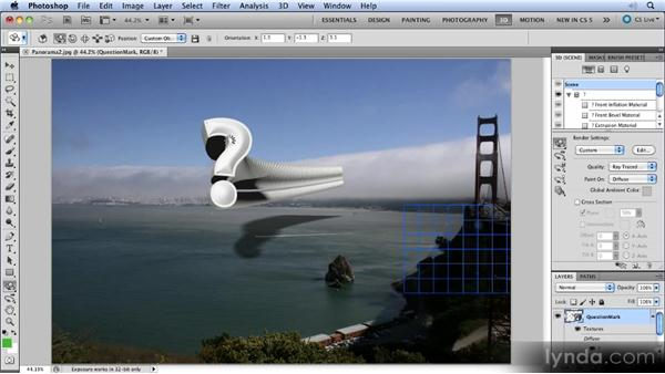 Working with 3D: Photoshop CS5 New Features Overview