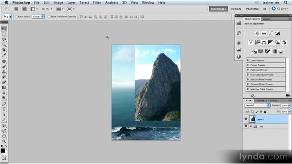 Importing and positioning the mountain: Photoshop Artist in Action: Uli Staiger's Balloonatic