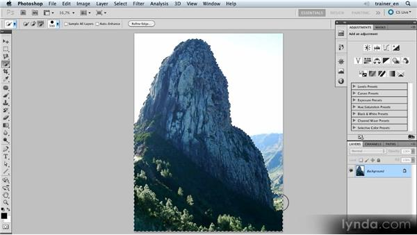 Preparing to add more mountains: Photoshop Artist in Action: Uli Staiger's Balloonatic