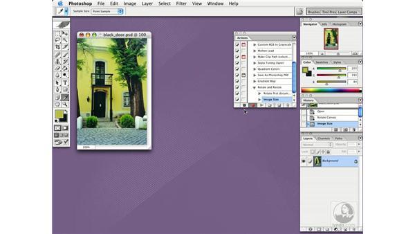 actions: Photoshop CS Essential Training