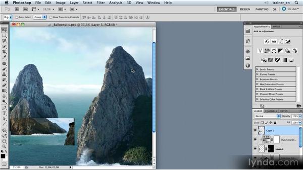 Adding a coastline: Photoshop Artist in Action: Uli Staiger's Balloonatic
