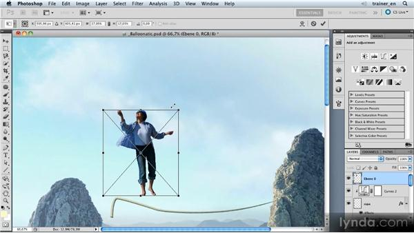 Adding the dancer: Photoshop Artist in Action: Uli Staiger's Balloonatic