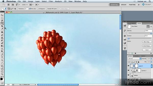 Adding the balloons: Photoshop Artist in Action: Uli Staiger's Balloonatic
