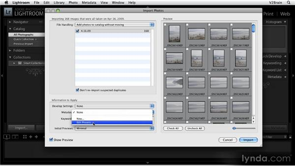 Importing images: Getting Started with Lightroom 2