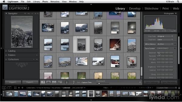 Using the Quick Develop panel: Getting Started with Lightroom 2
