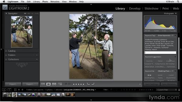 Creating and assigning keywords: Getting Started with Lightroom 2