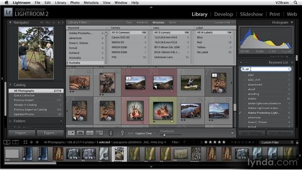 Using the Keywords panel: Getting Started with Lightroom 2