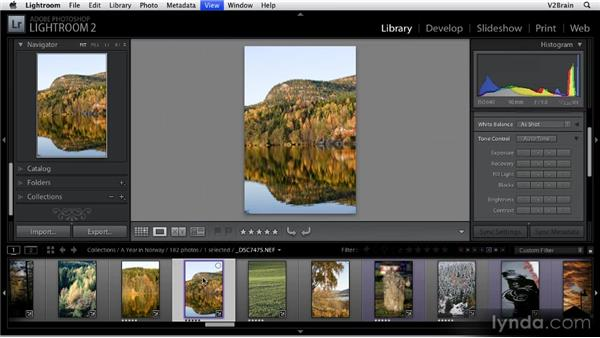 Using the Filmstrip feature: Getting Started with Lightroom 2