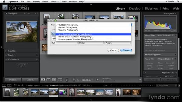 Different ways of tagging images: Getting Started with Lightroom 2