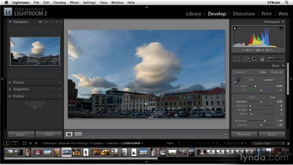 Adjusting the white balance: Getting Started with Lightroom 2