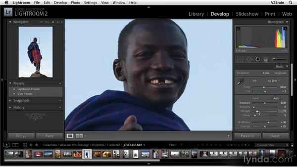 Using the Fill Light feature: Getting Started with Lightroom 2