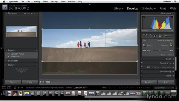 Using the Crop Overlay tool: Getting Started with Lightroom 2