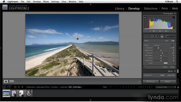 Using the Graduated Filter tool: Getting Started with Lightroom 2