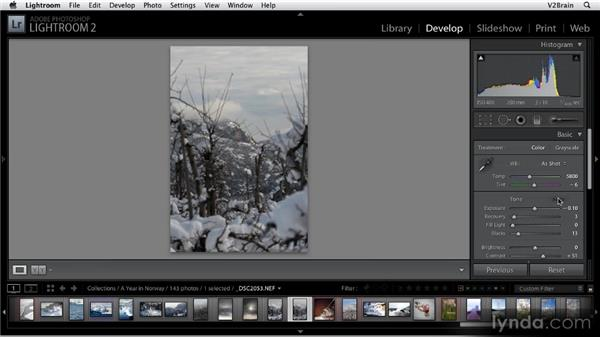 Using the auto-tone features: Getting Started with Lightroom 2