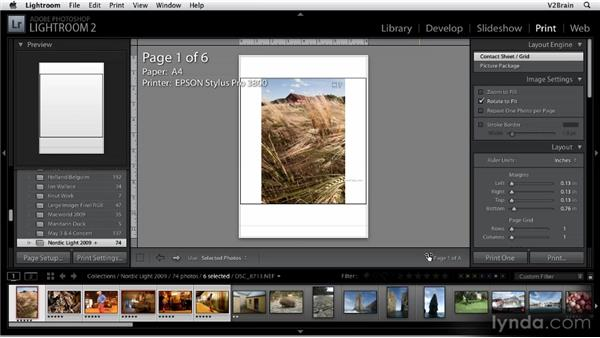Getting to know the Print module: Getting Started with Lightroom 2