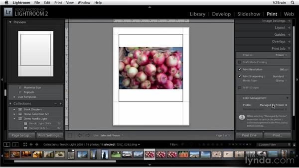 Creating a print: Getting Started with Lightroom 2