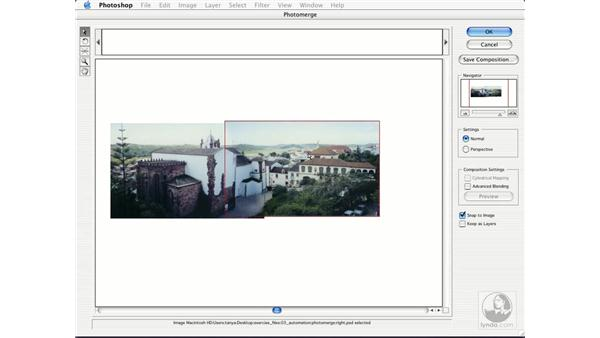panoramic images: Photoshop CS Essential Training
