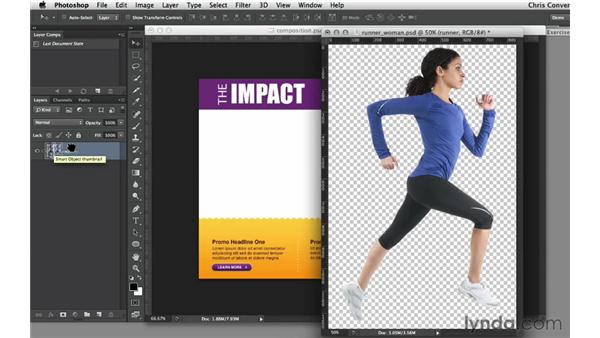 Creating Smart Objects from Photoshop files: Design the Web: Smart Objects